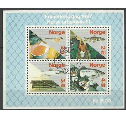 Znaczek Norwegia 1987 Mi bl 8 Stemplowane