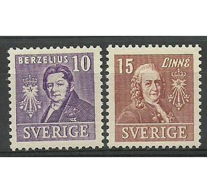 Znaczek Szwecja 1939 Mi 272-273B Z podlepką *