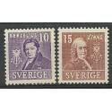 Szwecja 1939 Mi 272-273B Z podlepką *