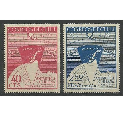 Znaczek Chile 1947 Mi 355-356 Czyste **