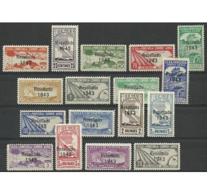 Znaczek Wenezuela 1943 Mi 382-398 Bez kleju ( * )