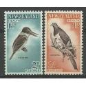 Nowa Zelandia 1960 Mi 413-414C Z podlepką *