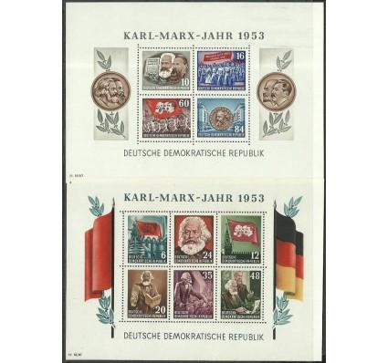 Znaczek NRD / DDR 1953 Mi bl 8-9 Z podlepką *