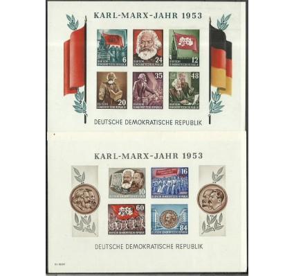 Znaczek NRD / DDR 1953 Mi bl 8-9B Z podlepką *