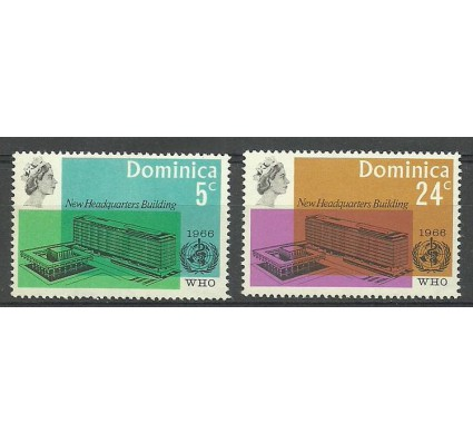 Znaczek Dominika 1966 Mi 193-194 Czyste **
