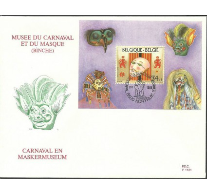 Znaczek Belgia 1995 Mi bl 64 FDC