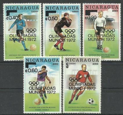 Znaczek Nikaragua 1972 Mi 1662-1664 Czyste **