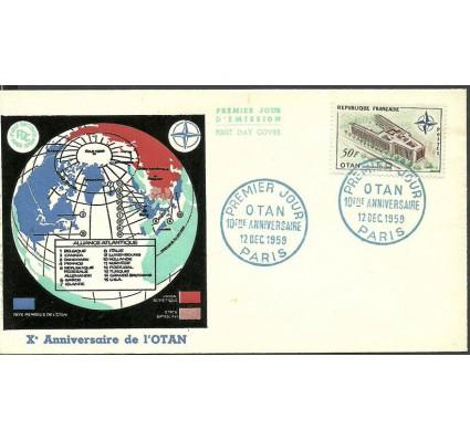 Znaczek Francja 1959 Mi 1272 FDC