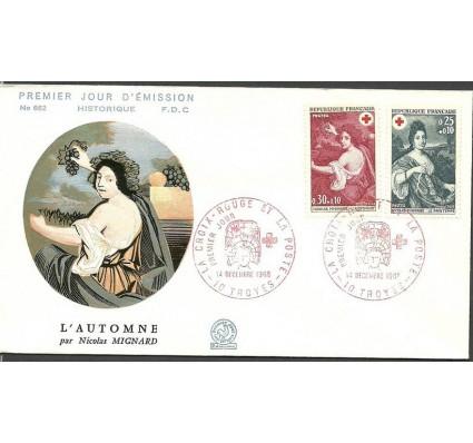 Znaczek Francja 1968 Mi 1647-1648 FDC