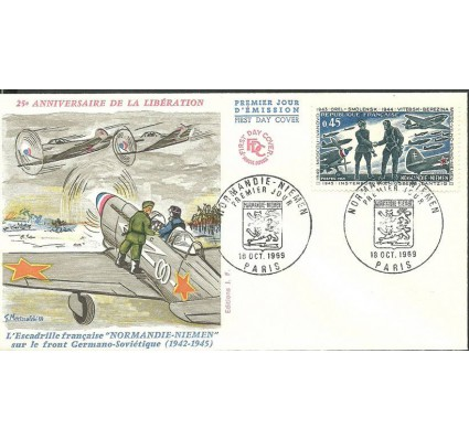Znaczek Francja 1969 Mi 1684 FDC