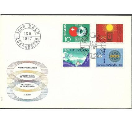 Znaczek Szwajcaria 1967 Mi 858-861 FDC
