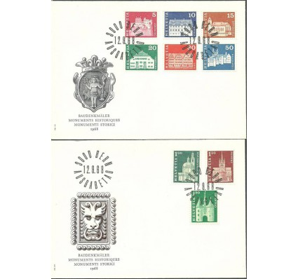 Znaczek Szwajcaria 1968 Mi 878-886 FDC