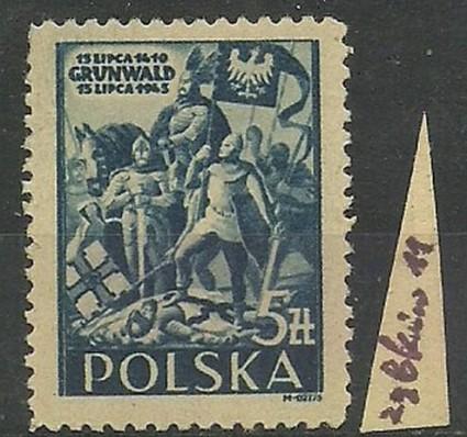 Znaczek Polska 1945 Mi 405 Fi 372 Czyste **