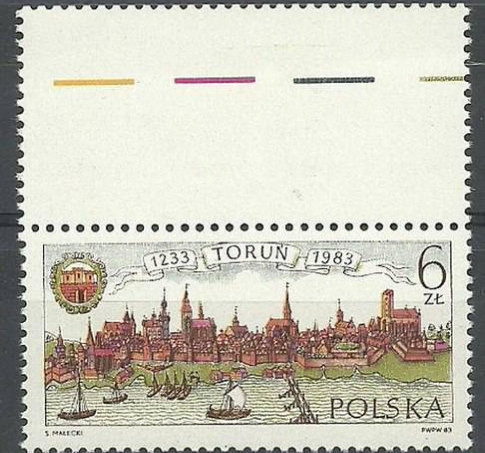 Polska 1983 Mi 2876 Fi 2728 Czyste **