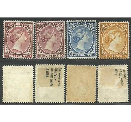 Znaczek Falklandy 1891 Mi 9-12 Czyste **