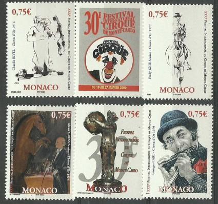 Znaczek Monako 2006 Mi 2780-2784 Czyste **