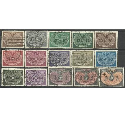 Znaczek Generalna Gubernia / GG 1940 Mi die 1-15 Fi U 1-15 Stemplowane
