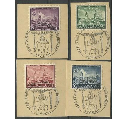 Znaczek Generalna Gubernia / GG 1942 Mi pa 92-95 Fi pa 92-95 Stemplowane