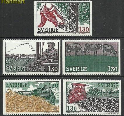 Szwecja 1979 Mi 1060-1064 Czyste **