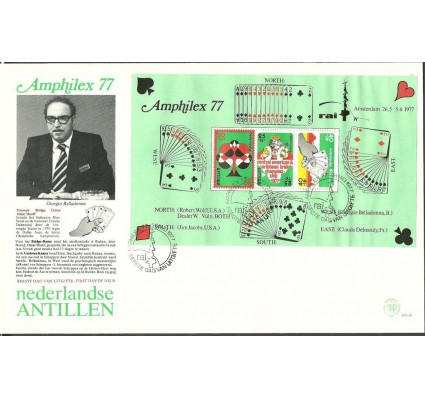 Znaczek Antyle Holenderskie 1977 Mi bl5 FDC
