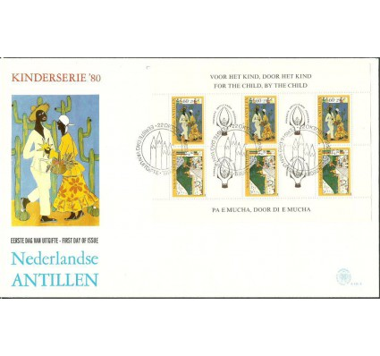Znaczek Antyle Holenderskie 1980 Mi bl 15 FDC
