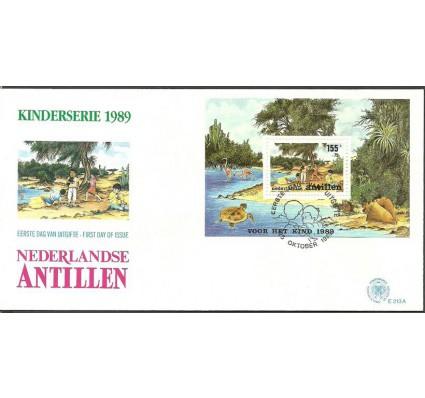 Znaczek Antyle Holenderskie 1989 Mi bl 34 FDC