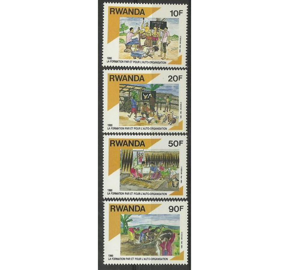 Rwanda 1992 Mi 1446-1449 Czyste **