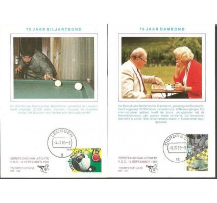 Znaczek Holandia 1986 Mi 1301-1302 Karta Max