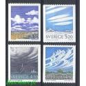 Szwecja 1990 Mi 1633-1636 Czyste **