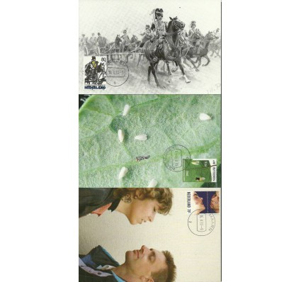 Znaczek Holandia 1993 Mi 1465-1467 Karta Max