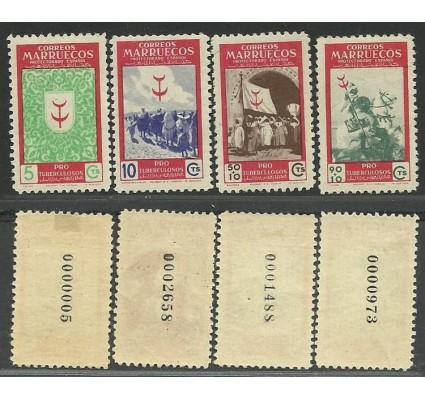 Znaczek Maroko Hiszpańskie 1949 Mi 297-300 Z podlepką *