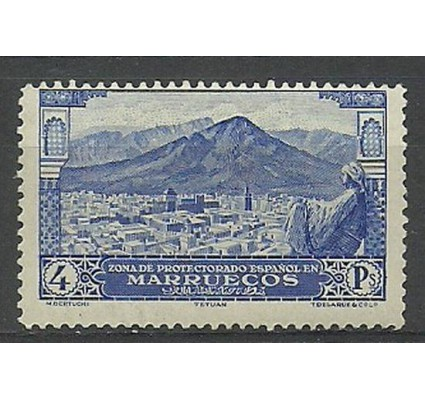 Znaczek Maroko Hiszpańskie 1928 Mi 103 Z podlepką *