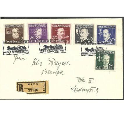 Znaczek Austria 1936 Mi adr 632-637 FDC