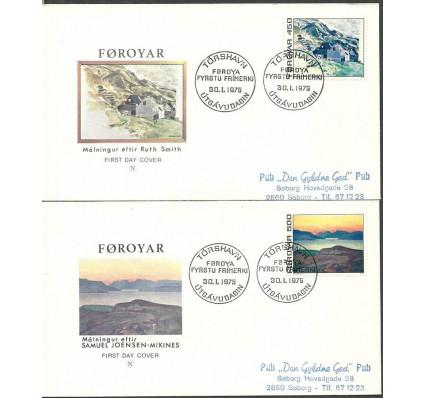 Znaczek Wyspy Owcze 1975 Mi adr 19-20 FDC