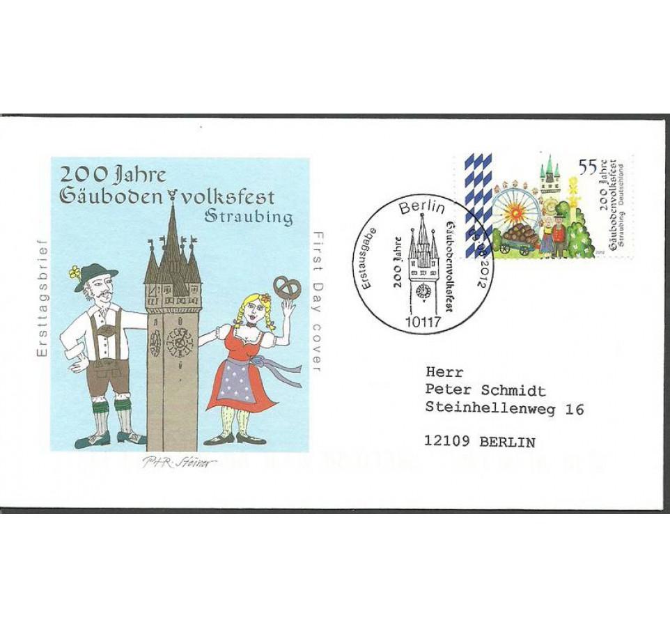 Niemcy 2012 Mi adr 2950 FDC