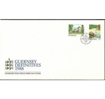 Znaczek Guernsey 1988 Mi 413-414 FDC