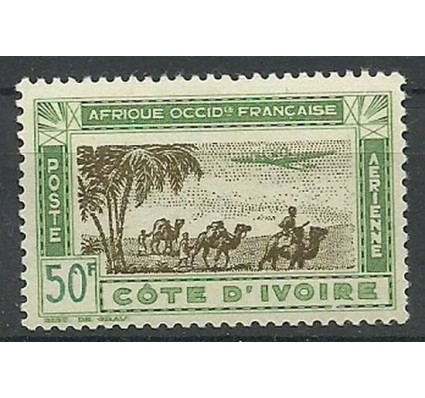 Znaczek Wybrzeże Kości Słoniowej 1942 Mi 197 Czyste **