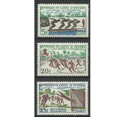 Znaczek Wybrzeże Kości Słoniowej 1961 Mi 233-235 Czyste **