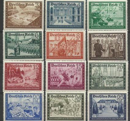 Znaczek Deutsches Reich / III Rzesza 1939 Mi 702-713 Czyste **