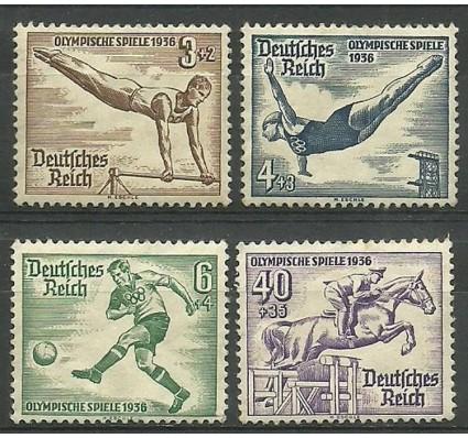 Znaczek Deutsches Reich / III Rzesza 1936 Mi 624-627 Czyste **