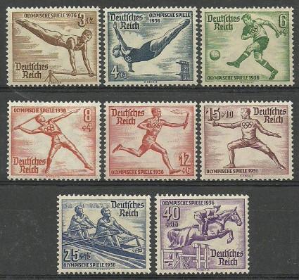 Znaczek Deutsches Reich / III Rzesza 1936 Mi 609-616 Czyste **