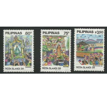 Znaczek Filipiny 1989 Mi 1943-1945 Czyste **