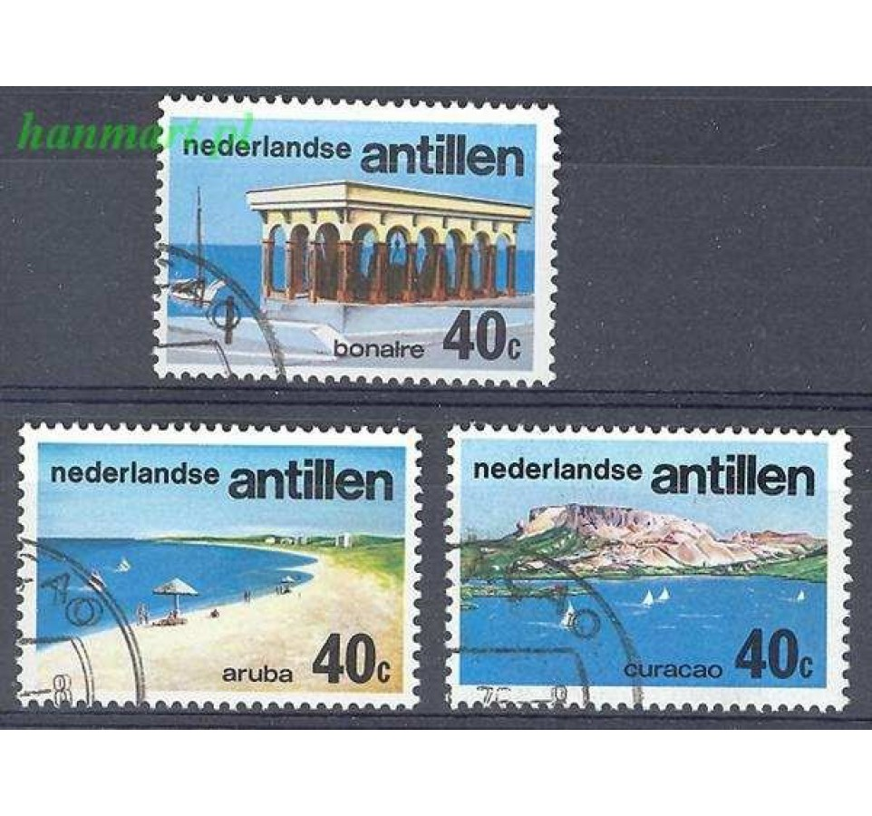 Antyle Holenderskie 1976 Mi 310-312 Stemplowane