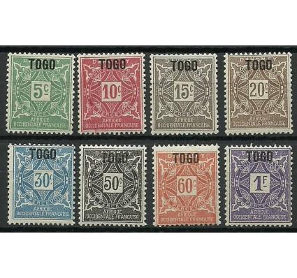 Znaczek Togo 1921 Mi por 1-8 Czyste **