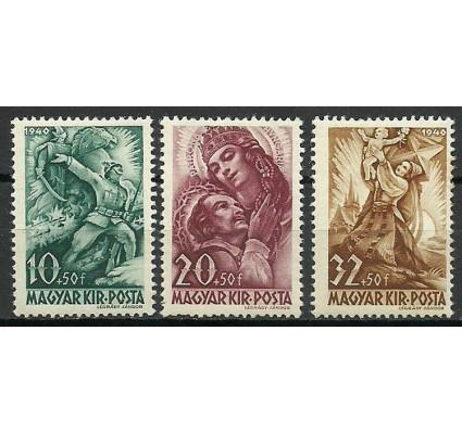 Znaczek Węgry 1940 Mi 640-642 Czyste **