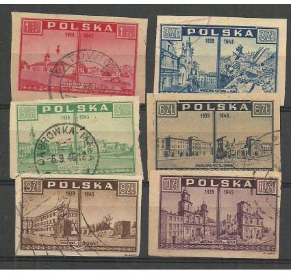 Znaczek Polska 1945 Mi 414-419 Fi 380-385 Stemplowane