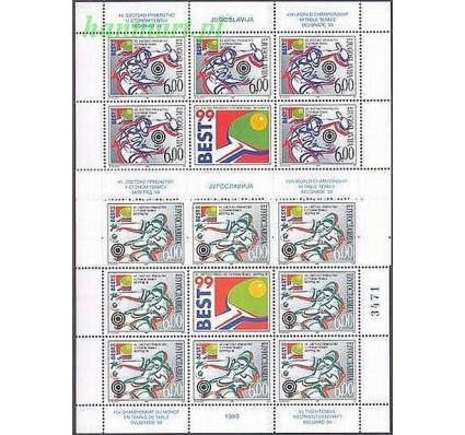 Jugosławia 1999 Mi ark 2908-2909 Czyste **