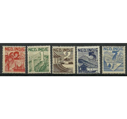 Znaczek Indonezja 1946 Mi 333-337NTH Czyste **