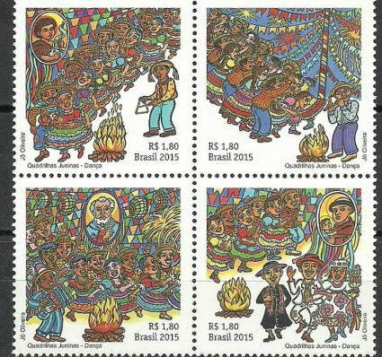 Znaczek Brazylia 2015 Mi 4240-4243 Czyste **