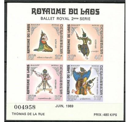 Znaczek Laos 1969 Mi bl 48 Czyste **